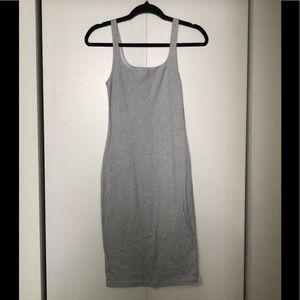 Zara white and Black Stripes midi dress